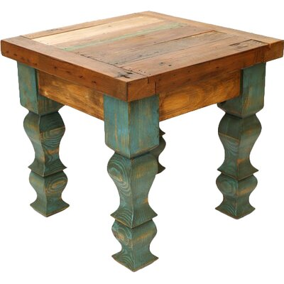 End Table Color: Brown and Turquoise