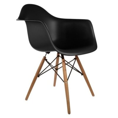 Solid Wood Dining Chair Finish: Black