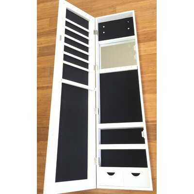 Frameless Over the Door Jewelry Armoire with Mirror