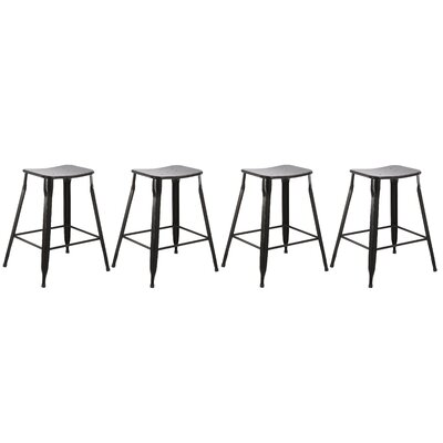 24 Stackable Bar Stool Finish: Black