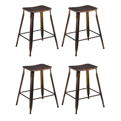 24 Stackable Bar Stool Finish: Golden Bronze