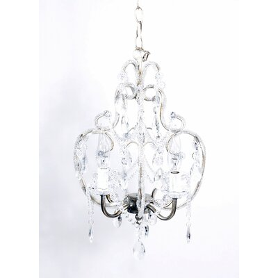 Hanging 4-Light Crystal Chandelier Finish: Silver