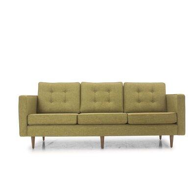 Melrose Sofa Frame Finish: Walnut, Upholstery: Key Largo Grass