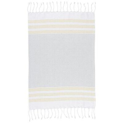 Hammam Stripe Towel Color: Citron