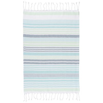 Hammam Stripe Towel Color: Mint