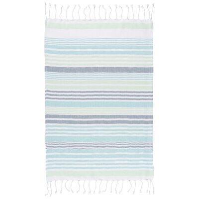 Hammam Stripe Towel Color: Mint
