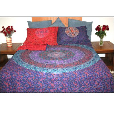 Devry Sanganer Reversible Block Print 3 Piece Duvet Cover Set