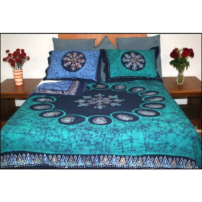 Brushwood Mulitbatik Reversible Block Printed Duvet 3 Piece Cover Set