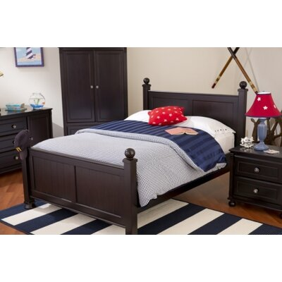 Jacob Panel Bed with Trundle Finish: Mahogany, Size: Twin
