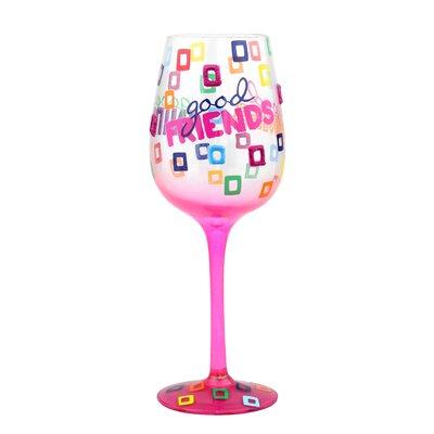 Shoreham 'Good Friends, Good Wine' 15 oz. All Purpose Wine Glass