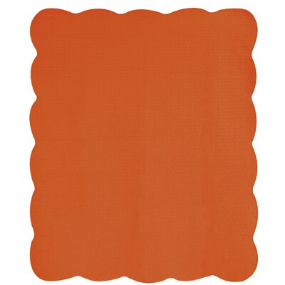 Cotton Throw Blanket Color: Persimmon