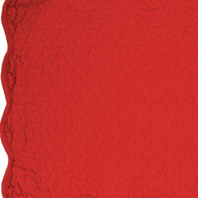 Cotton Throw Blanket Color: Scarlet