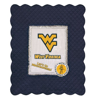 West Virginia University Cotton Throw