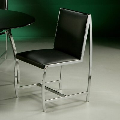 Belado Side Chair in Leather Touch Black
