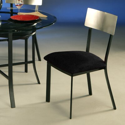 Cafferata Side Chair in Passion Suede Black