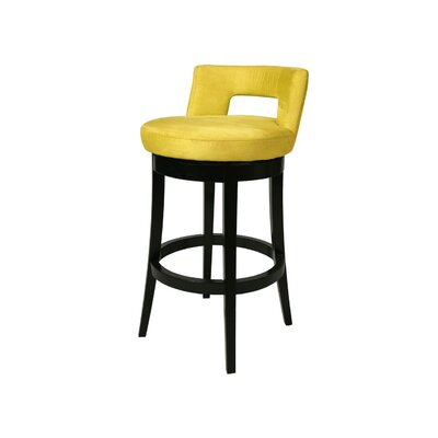 Eureka 26 Swivel Bar Stool Upholstery: Microfiber Yellow