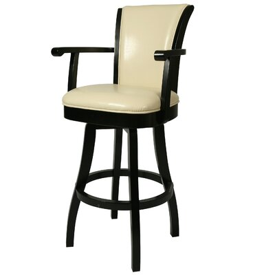 Glenwood 26 Swivel Bar Stool Upholstery: Cream