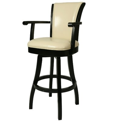 Glenwood 30 Swivel Bar Stool Upholstery: Cream