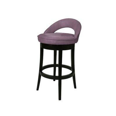 Urbana 30 Swivel Bar Stool Upholstery: Microfiber Eggplant