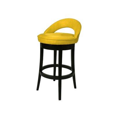 Urbana 26 Swivel Bar Stool Upholstery: Microfiber Yellow