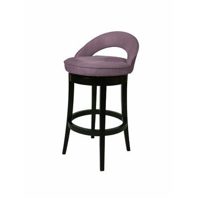 Urbana 30 inch Swivel Bar Stool Upholstery: Microfiber Eggplant