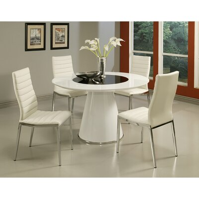 Taranto 5 Piece Dining Set with Trinity Side Chairs in Ivory