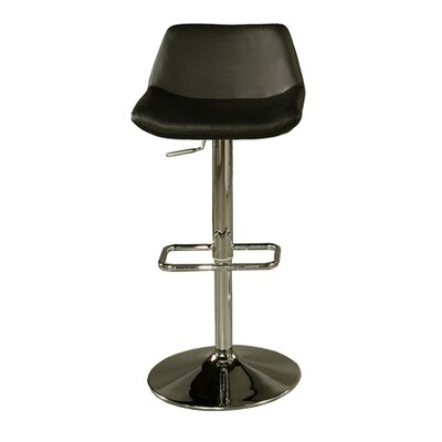 Los Cabos Adjustable Height Swivel Bar Stool Upholstery: Black