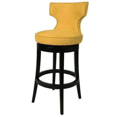 Augusta 26 Swivel Bar Stool Upholstery: Yellow
