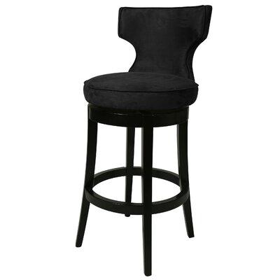 Augusta 30 Swivel Bar Stool Upholstery: Black