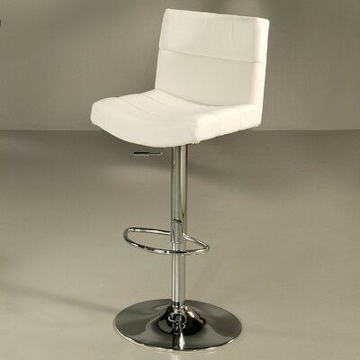 Versailles Adjustable Height Swivel Bar Stool Upholstery: Ivory