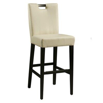 Epiphany 30 Bar Stool Upholstery: White