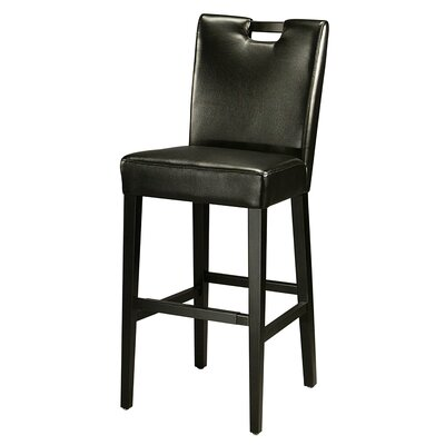 Epiphany 30 Bar Stool Upholstery: Black
