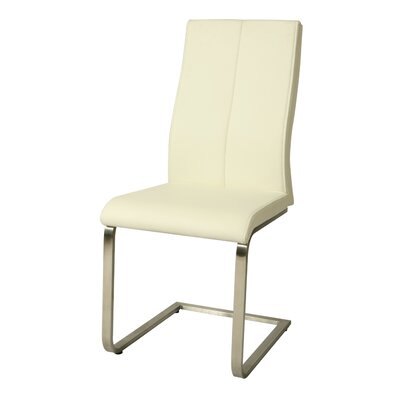 Olander Parsons Chair Upholstery: Ivory