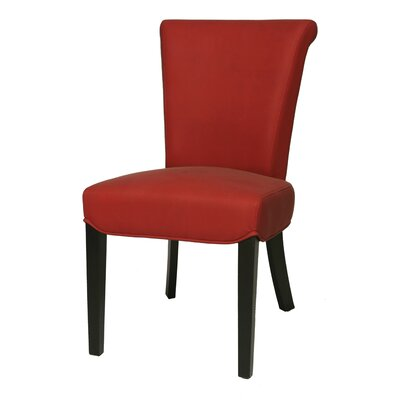 Hannah Side Chair Chair Upholstery: Red