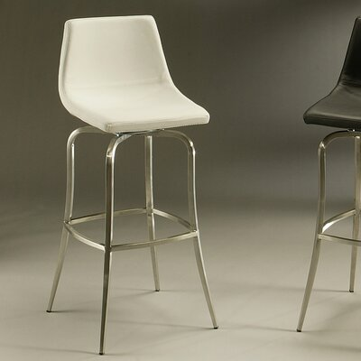 Diamond 26 Swivel Bar Stool Upholstery: Ivory