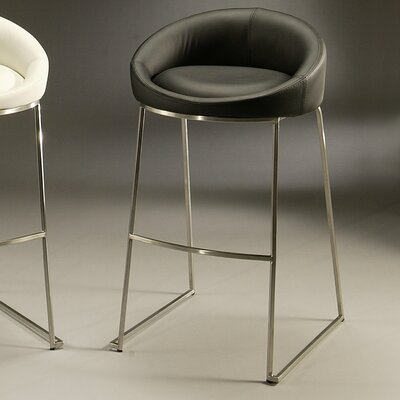 Di Sinistra 26 Bar Stool Upholstery: Black