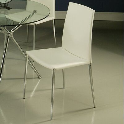 Ellington Parsons Chair Chair Upholstery: White