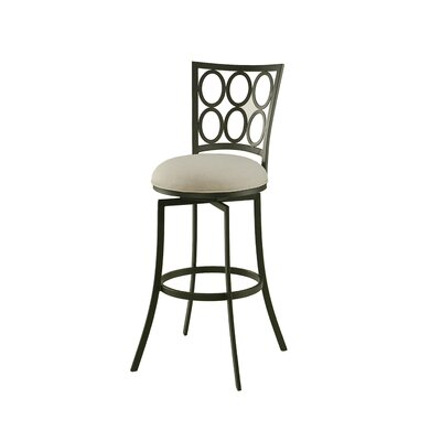 Hermon Swivel Bar Stool Seat Height: 27