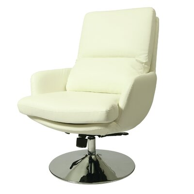 Pennywise Swivel Lounge Chair Upholstery: Ivory