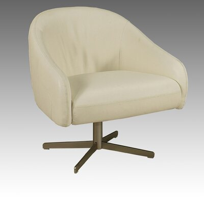Dawsonville Lounge Chair Color: Top Grain White Leather