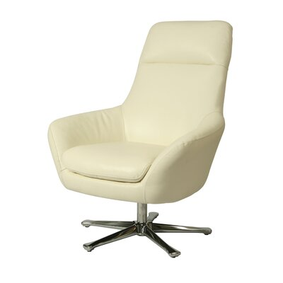 Ellejoyce Swivel Lounge Chair Upholstery: White