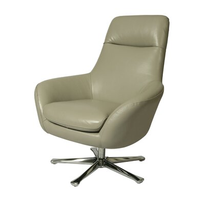 Ellejoyce Swivel Lounge Chair Upholstery: Light Gray