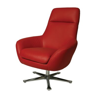 Ellejoyce Lounge Chair Color: Red