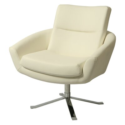 Aliante Club Chair Upholstery: Ivory