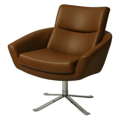 Aliante Club Chair Color: Brown