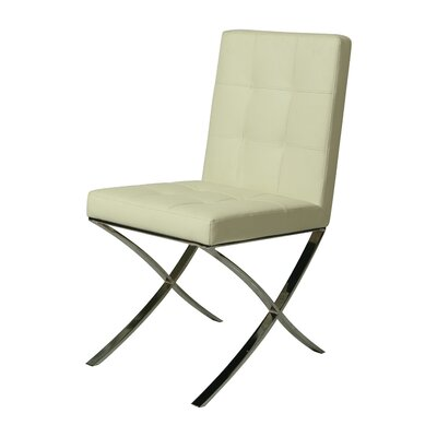 Aria Side Chair Upholstery: Ivory