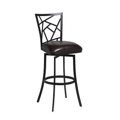 Homestead 31.25 Swivel Bar Stool Finish: Phantom, Upholstery: Melvin Chocolate