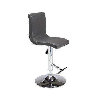 Iannucci Adjustable Height Swivel Bar Stool Seat Finish: Gray