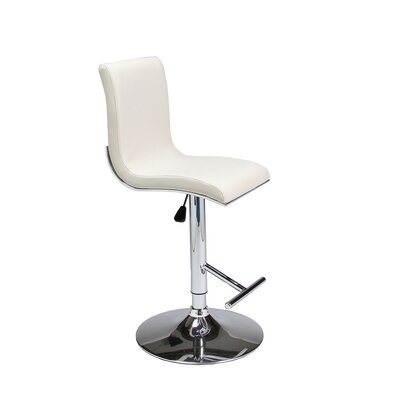 Iannucci Adjustable Height Swivel Bar Stool Seat Finish: Ivory