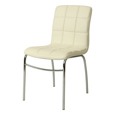 Fleming Side Chair Upholstery: Ivory